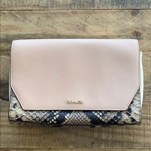 Coach Embossed Python Crossbody in Pink